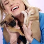 Brie Larson Played With Puppies While Answering Fan Questions