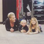 Pink Fiercely Defends Picture of Her Kids Running in Holocaust Memorial