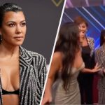 Kim Kardashian Awkwardly Scolded Kourtney Mid-Interview At The People's Choice Awards